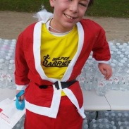 Miles after his great performance at the Santa Run