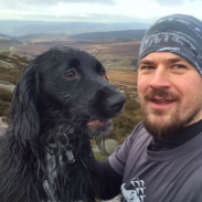 Asbo and Nick enjoying the peaks
