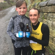 Lewis and Alan after the Hollybush Fun Run NYD