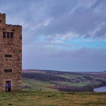 Strines Tower, long Peaks run on Xmas Eve