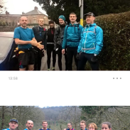 Some of the hardy who tackled the Ultra Tour of Matlock Bath on NYE