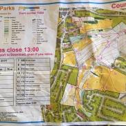 Belper Street Orienteering, kids course map