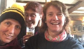 Rachel, Jen and Sharon after the Derwent Dambuster (well I hope it was after Jen!)