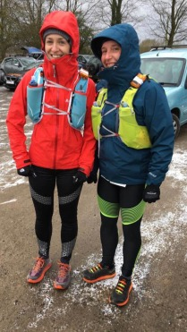 Clare and Zoe at beginning of Hardmoor 55