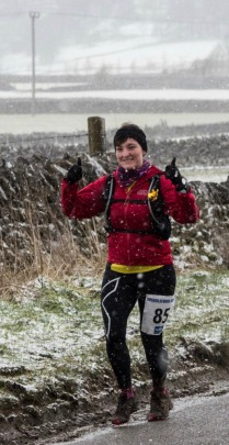Lois still smiling at the Grindleford Gallop